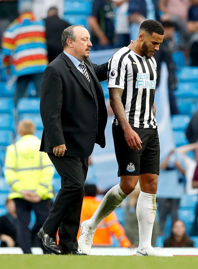 CLOSE BOND: Jamaal Lascelles and Rafael Benitez