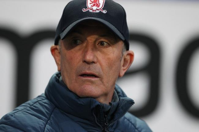 BOLTON, ENGLAND 9th April Tony Pulis the Middlesbrough manager   during the Sky Bet Championship match between Bolton Wanderers and Middlesbrough at the University of Bolton Stadium, Bolton on Tuesday 9th April 2019. (Picture Credit: Mark Fletcher | MI Ne