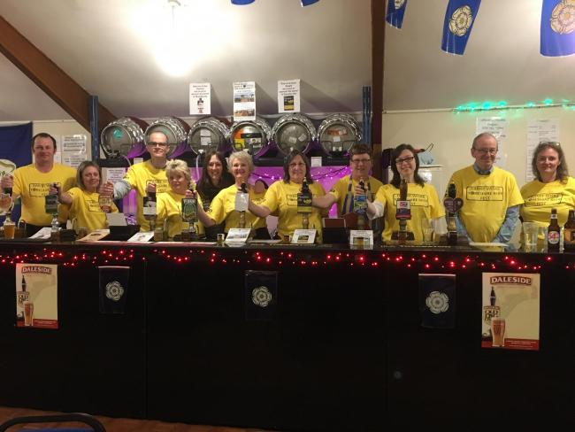 YORKSHIRE BEER: Danby Wiske Beer Festival volunteers last year