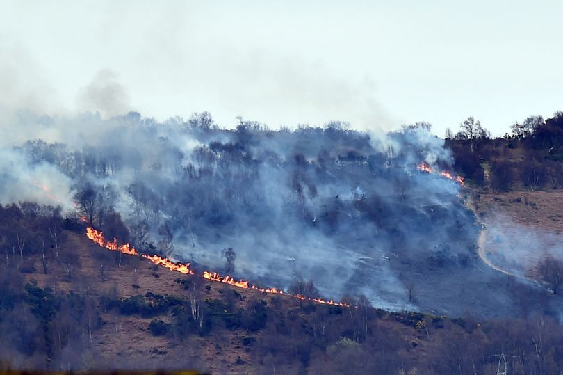 WOODLAND FIRE: Eston Hills up in flames over the weekend