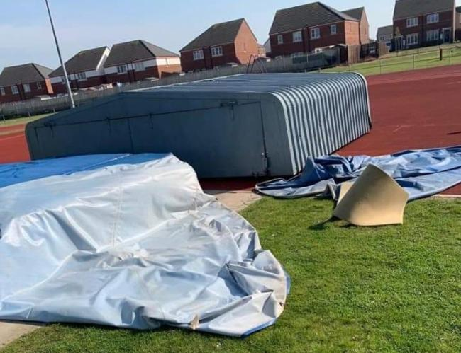 SECURITY CALL: Damaged equipment at Eastbourne Sports Complex