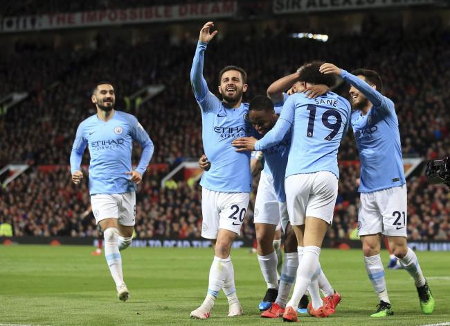 ALMOST THERE: Manchester City edged closer to the Premier League as they won at Old Trafford on Wednesday night