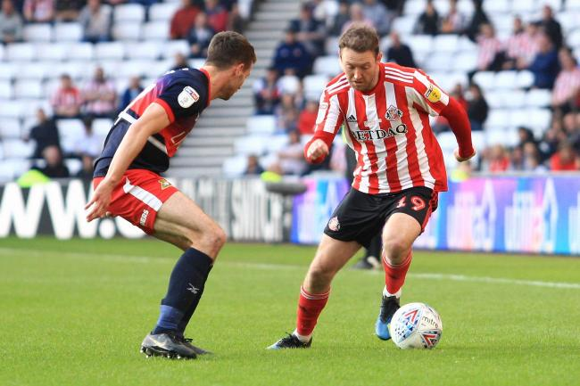 Sunderland's Aidan McGeady contests for the ball with Doncaster Rovers' Matty Blair. Picture: MI News and Sport