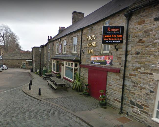 The man was seen leaving the Pack Horse Inn at about 2.30am on Monday morning in the direction of Stanhope Town Hall where he was sighted again at about 4.25am. Picture: Google