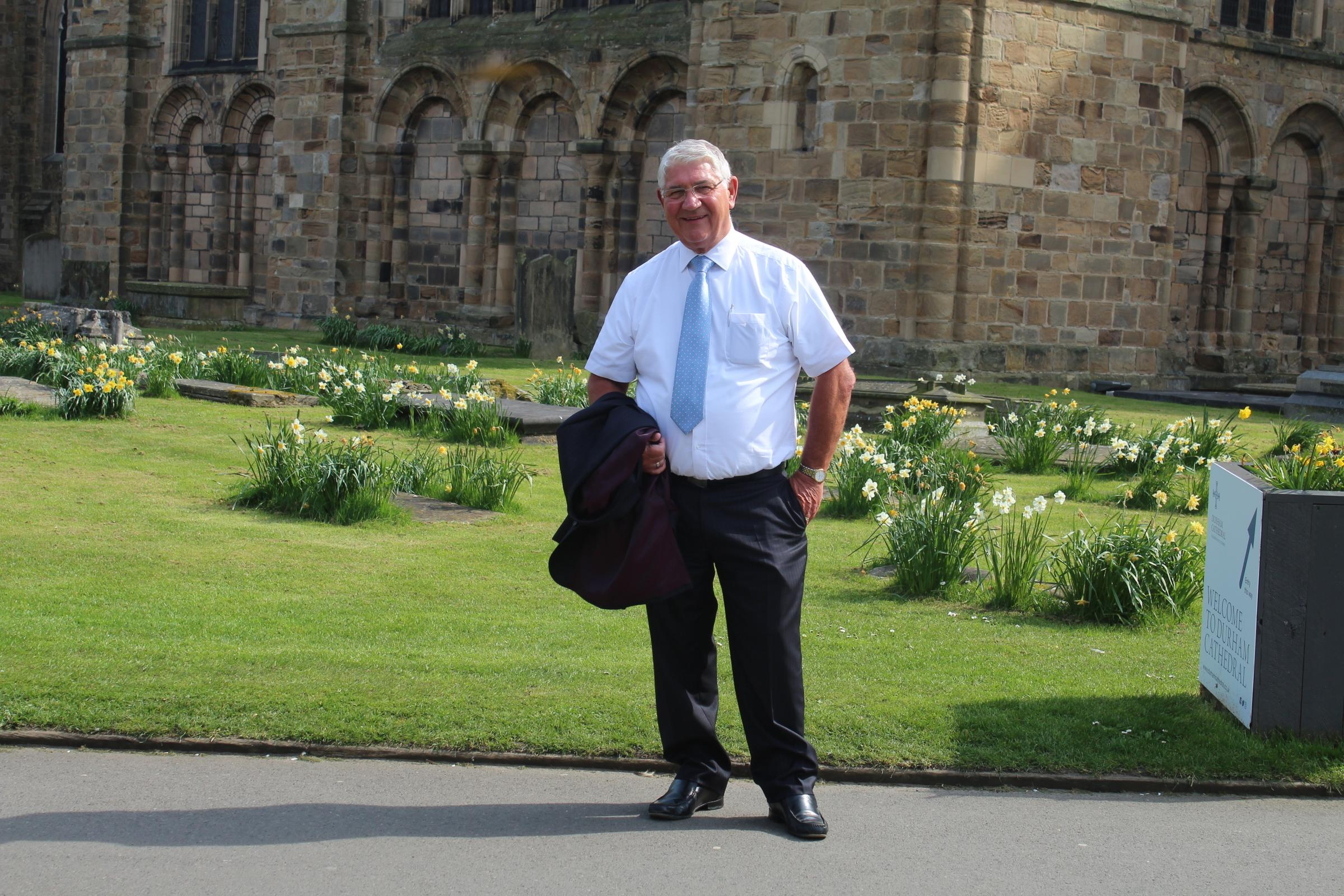 SLEEPOUT CHALLENGE: Ron Hogg will be taking part in the Durham SleepOut