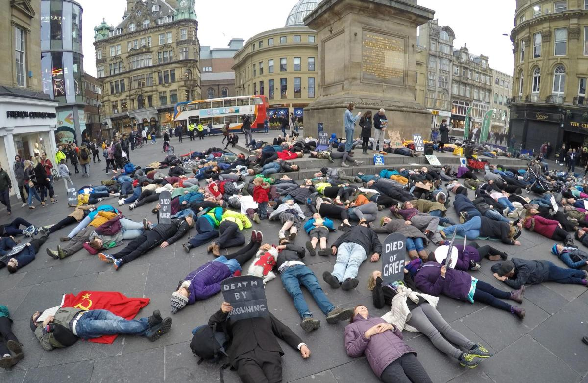Traffic disrupted in Newcastle by climate change activists