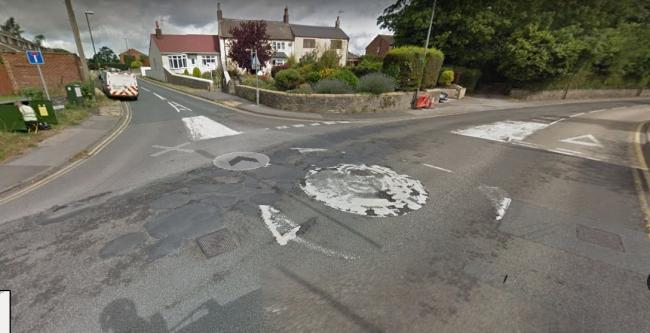 ROUNDABOUT: The access road residents say is dangerous