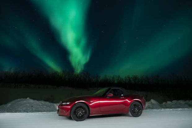 Mazda MX-5 in the Arctic. All Pictures: David LF Smith