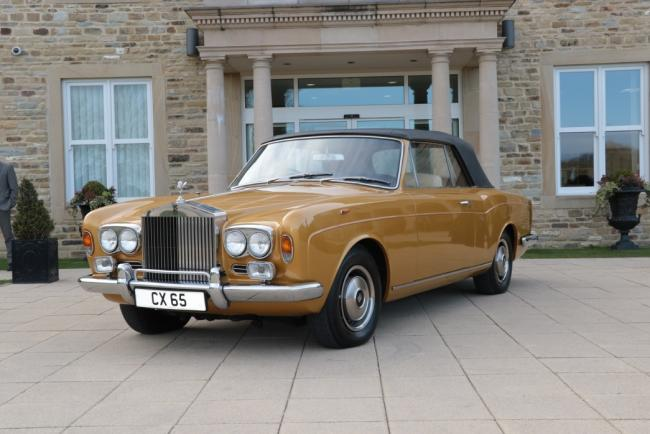 Rolls Royce Corniche at the sale at Tennants