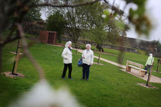 PLANTING: A new orchard has been created in place of a garden at Barnard Castle castle Picture: SARAH CALDECOTT