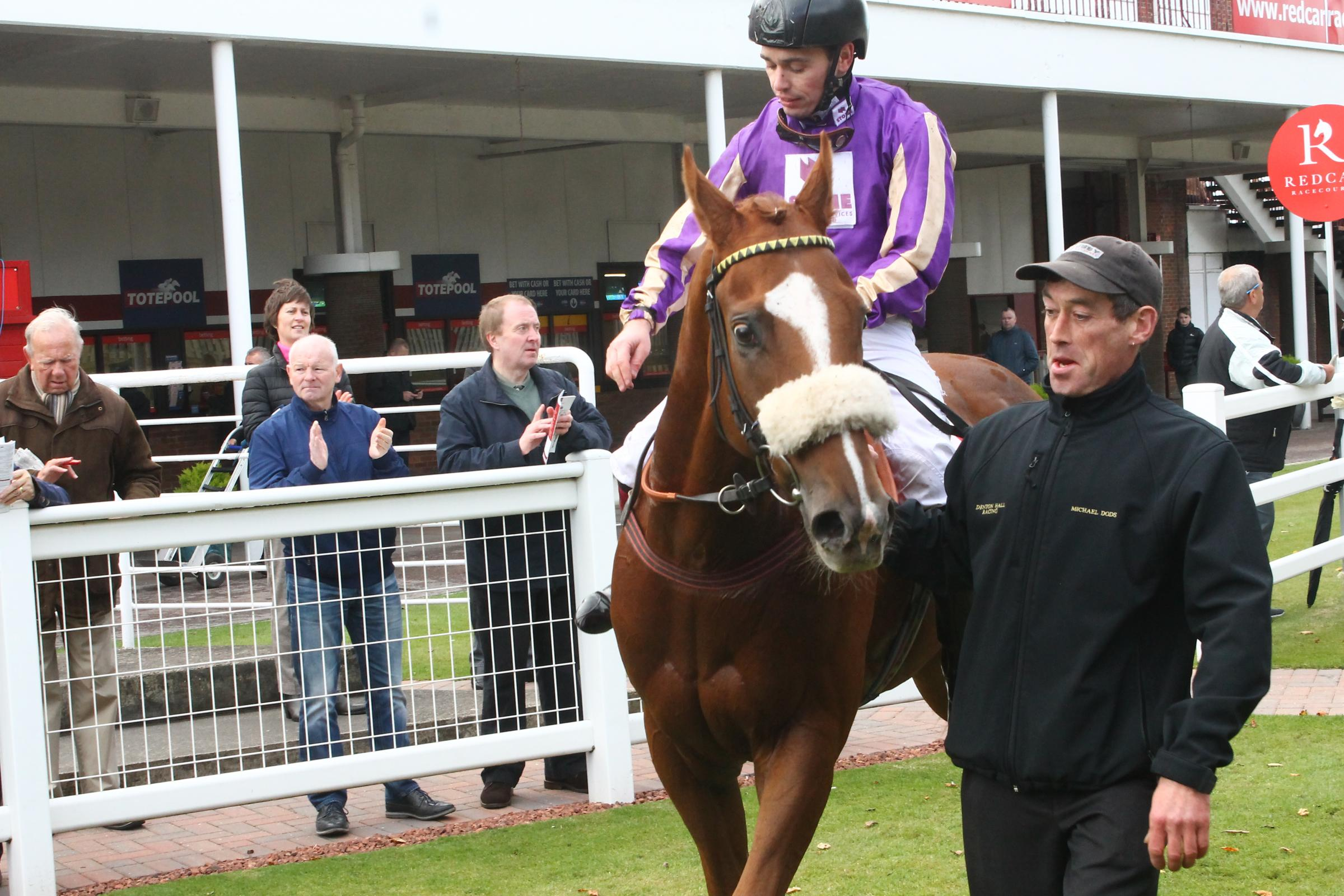 WINNER: Myrmidons returns after last year's victory at Redcar. Picture: Peter Barron
