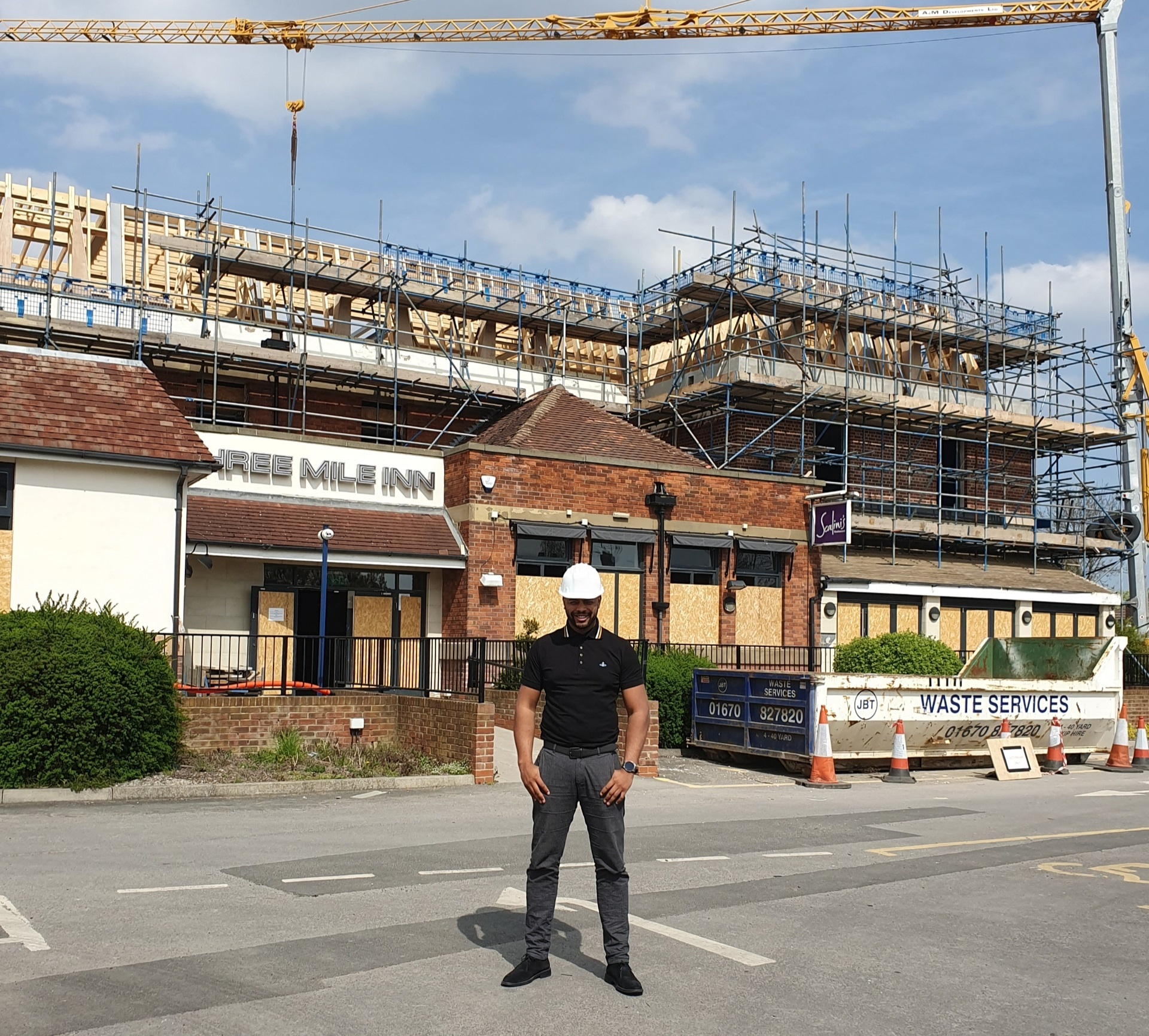 PUB TRANS-FORMED: Fabian Pritchard at The Three Mile in Gosforth, which is undergoing a major redevelopment