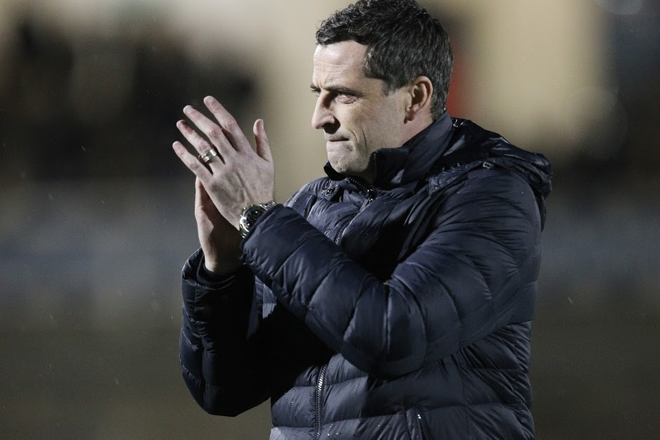 BRISTOL, UK 5TH MARCH  Sunderland manager Jack Ross   during the Checkatrade Trophy Semi Final Tie between Bristol Rovers and Sunderland at the Memorial Stadium, Bristol on Tuesday 5th March 2019. (Credit: Mark Fletcher | MI News).