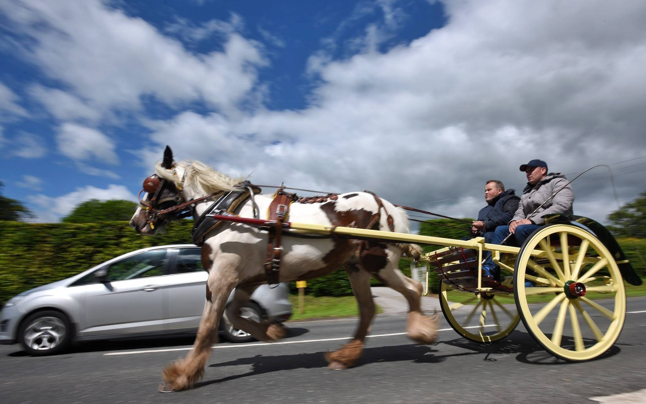 Dated: 07/06/2017  ..The travelling community gather on the fringes of Appleby, Cumbria as the Appleby Horse Fair gets underway this week, where thousands of travellers merge to trade horses at the historic annual event in the Eden Valley... NOT AVAILABLE
