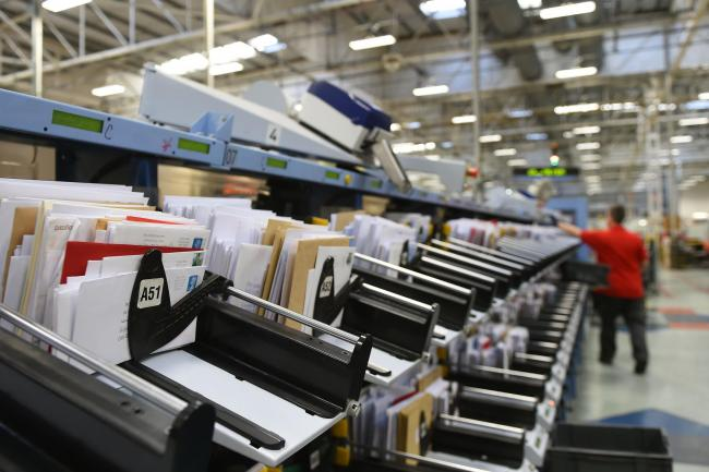 Letters and cards wait to be sorted at the Royal Mail Peterborough Mail Centre in Peterborough, Cambridgeshire. Picture: Joe Giddens/PA Wire
