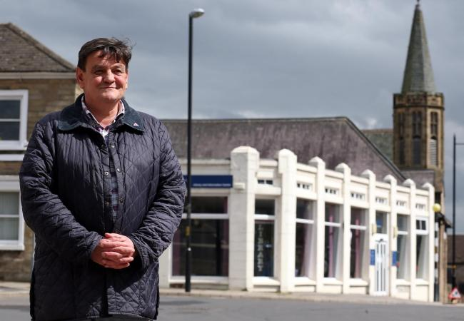 NEW HOME: Cllr Stuart Parson outside Richmond Library which is to be the new home for the Tourist Information Centre in the town.  Picture: CHRIS BOOTH.