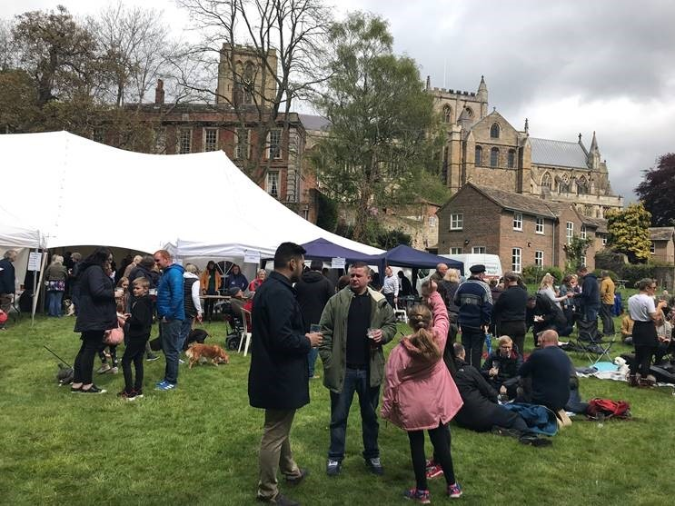 Ripon Cathedral Beer Festival was a success despite the rain