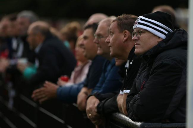 Darlington supporters at a match this season at Blackwell Meadows. Picture: CHRIS BOOTH