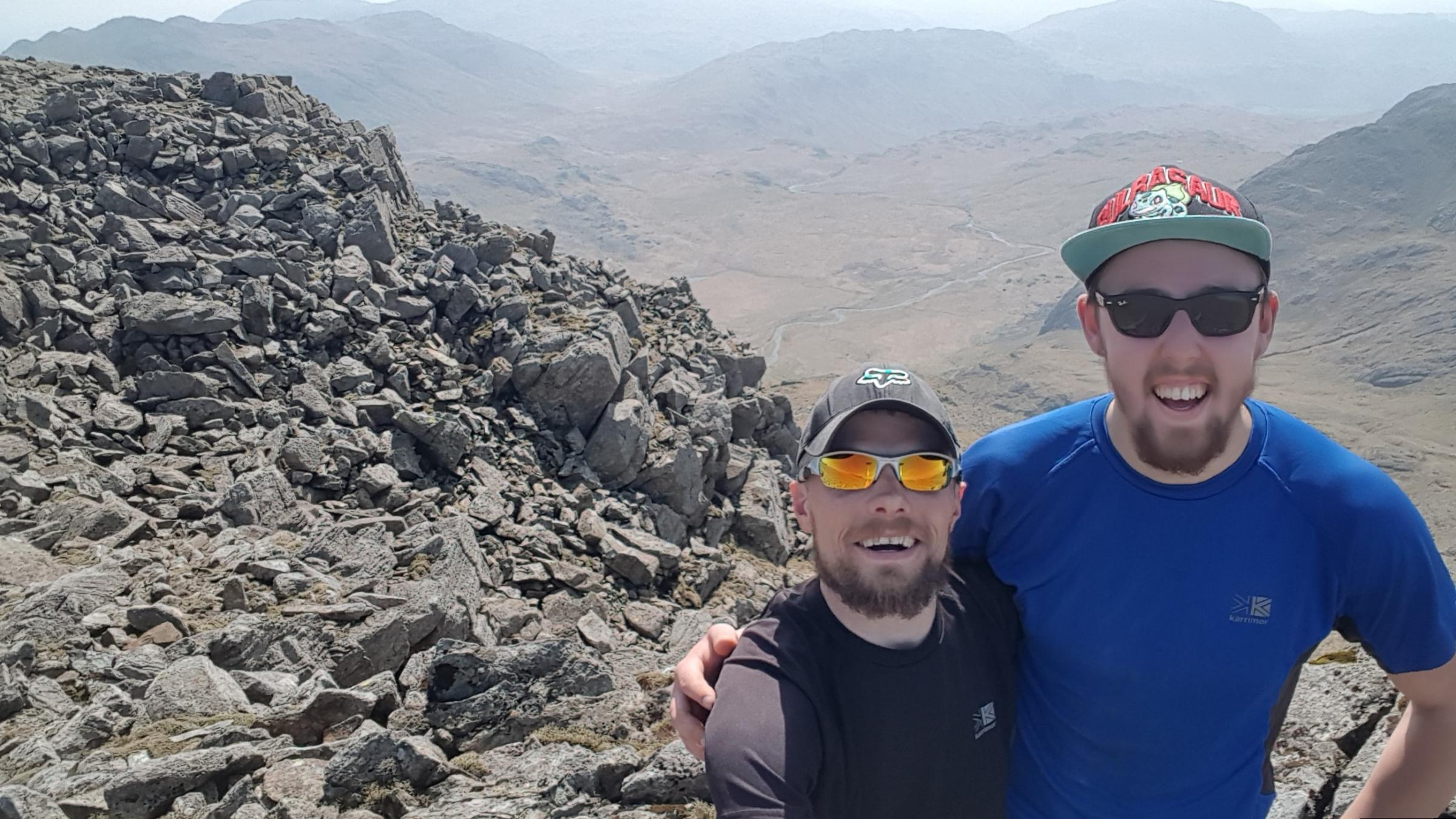 Dave Herron and Jason Oglesby are gearing up to scale the National Three Peaks