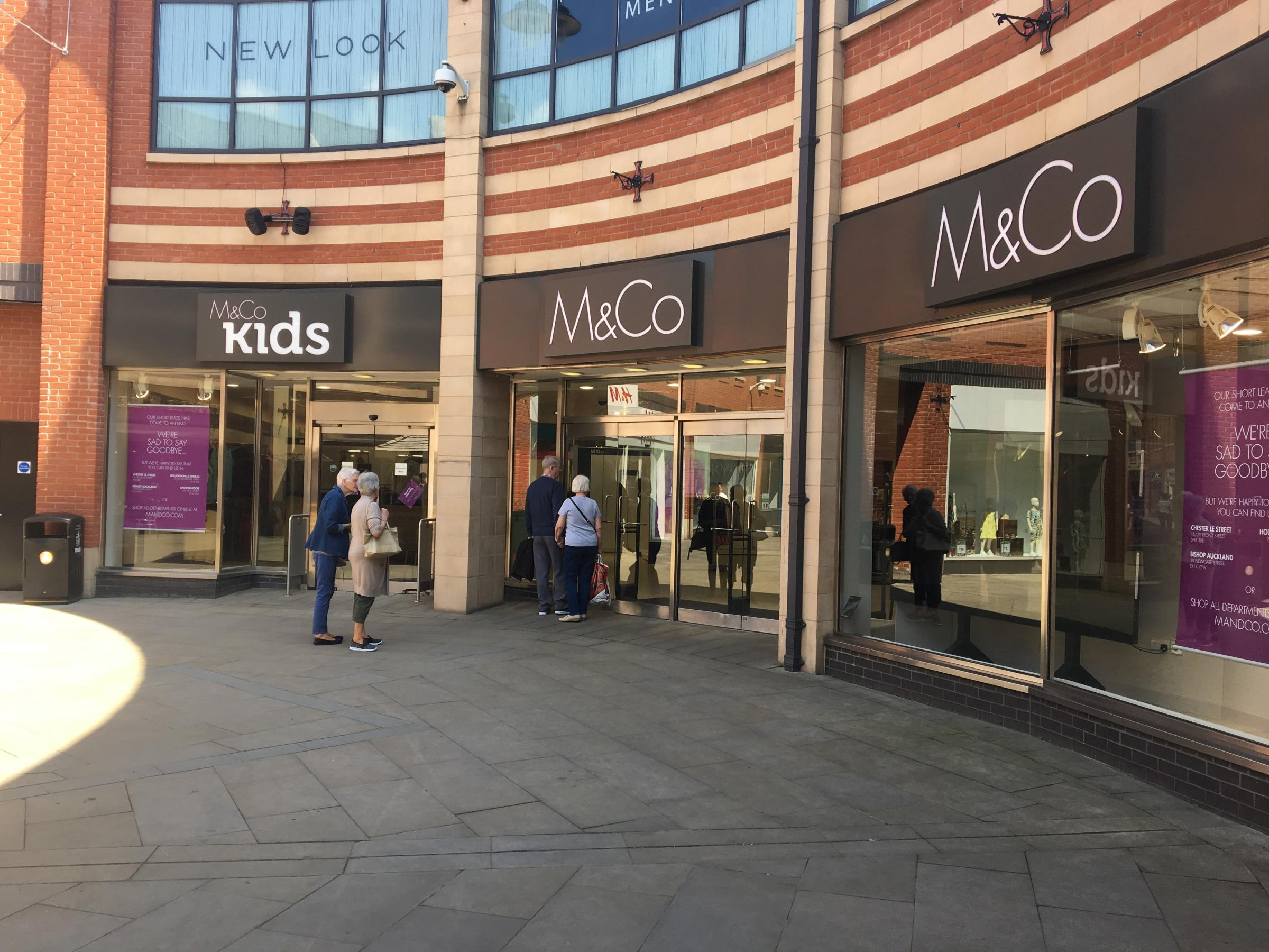 M&Co ceased trading at the Prince Bishops Shopping Centre, Durham, on Saturday
