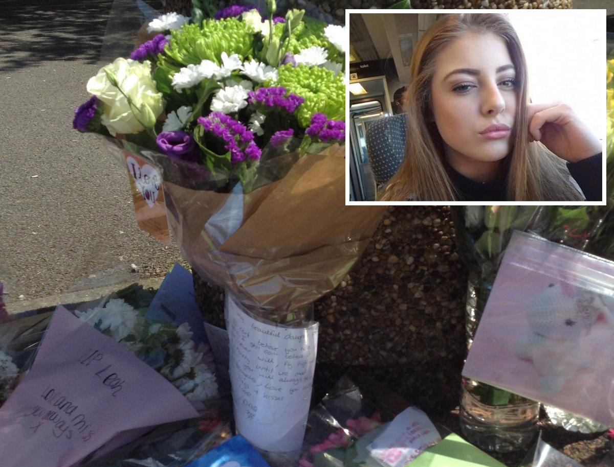Flowers left for Leah Heyes, who collapsed and died in a Northallerton car park after taking what is believed to be MDMA, also known as ecstasy