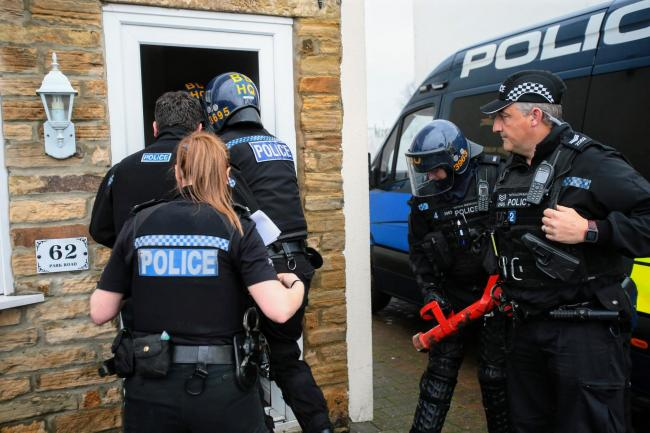 Two men in court after being arrested during major police operation