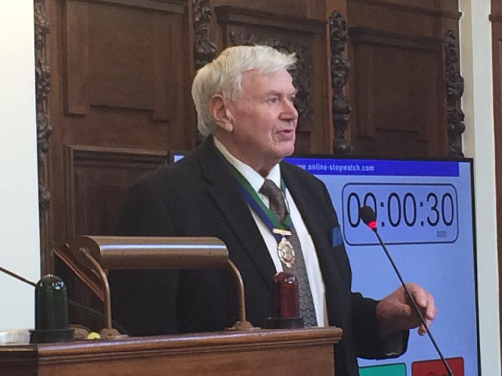 Cllr Robert Heseltine, after being elected vice-chairman of North Yorkshire County Council