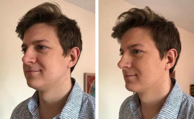 'Fix it' makeup before and after  Picture: Luke Rix-Standing/PA