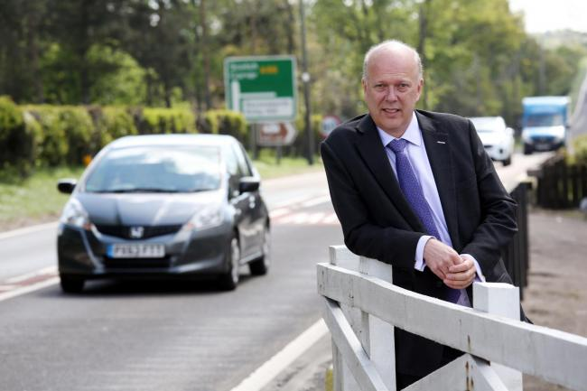 Transport Secretary Chris Grayling , at the A66, East Layton. Picture by Paul Norris.