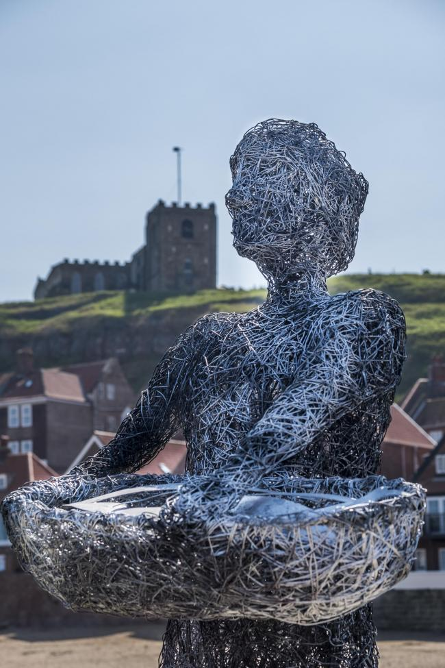 The Whitby sculpture. Credit Glenn Kilpatrick