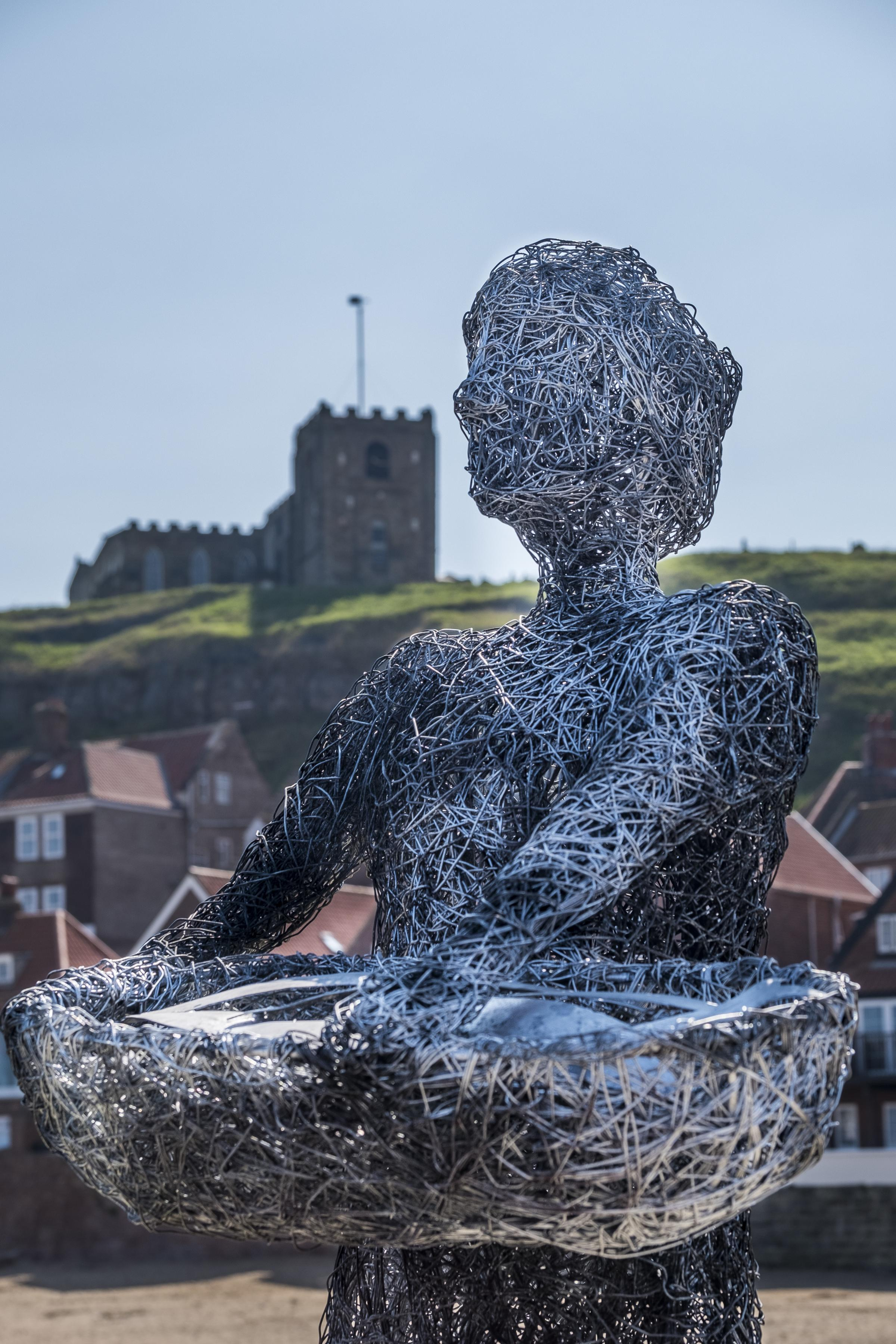 Life-size sculpture installed in time for Whitby's Fish & Ships