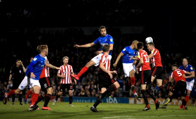Sunderland and Portsmouth players challenge for the ball during Thursday's game at Fratton Park (Picture: Adam Davy/PA Wire)