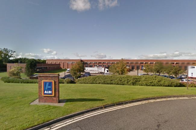 Aldi distribution centre in Darlington Picture: Google