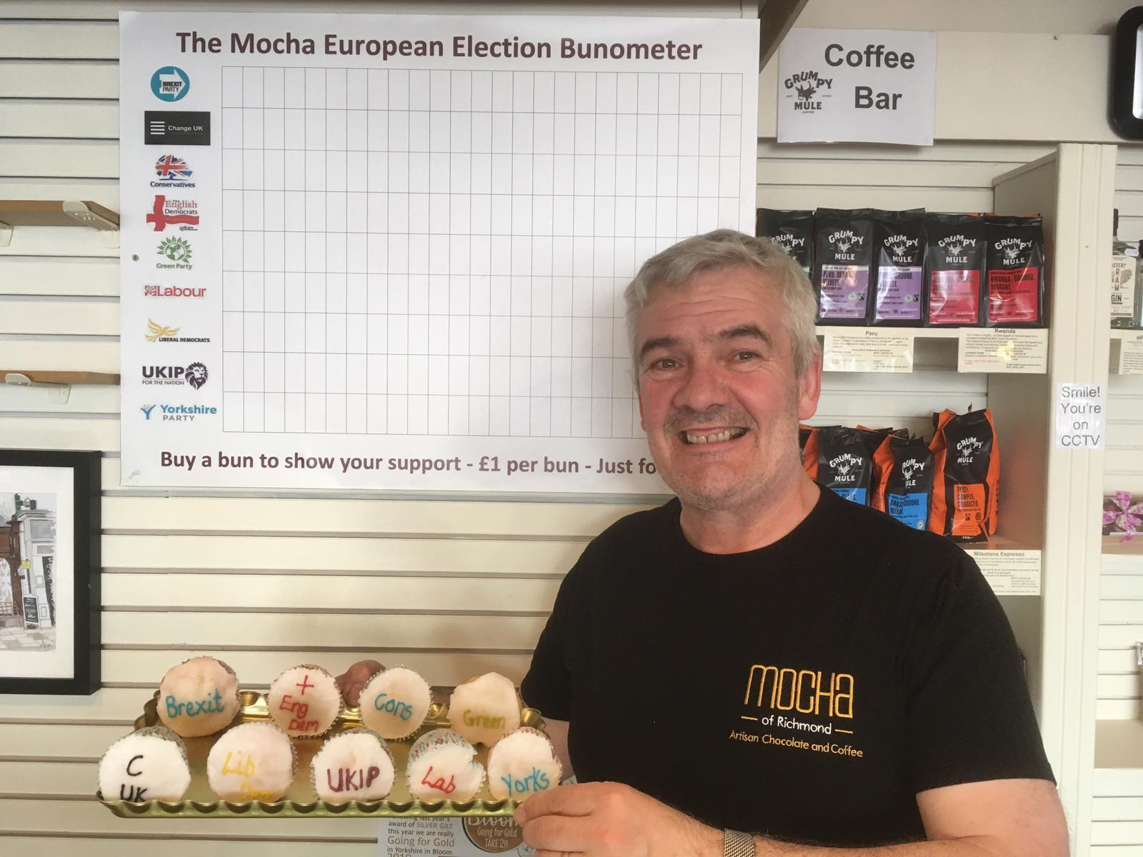 Dennis Graves from Mocha, Richmond, with his 'Bunometer'