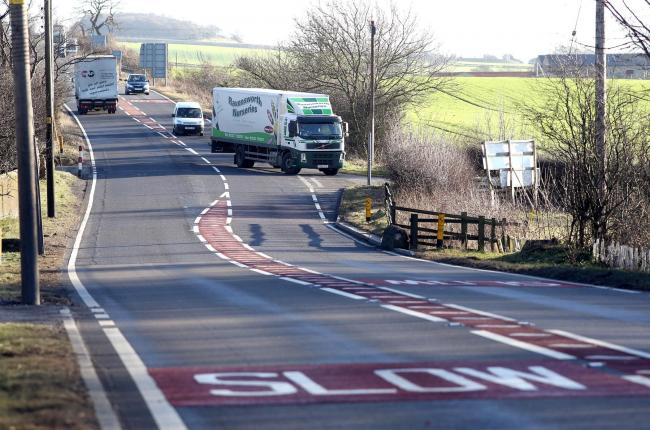 The road layout near to Ravensworth where the A66 meets New Lane. Picture: Chris Booth