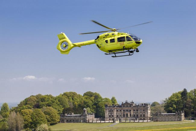 One of the Yorkshire Air Ambulance helicopters