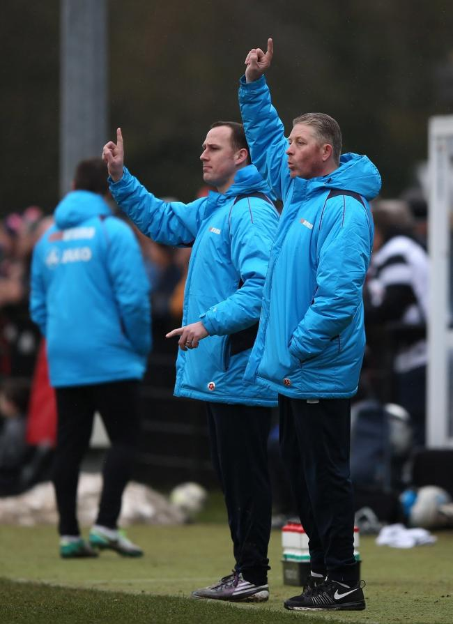 New Darlington manager Alun Armstrong (right). Picture: CHRIS BOOTH