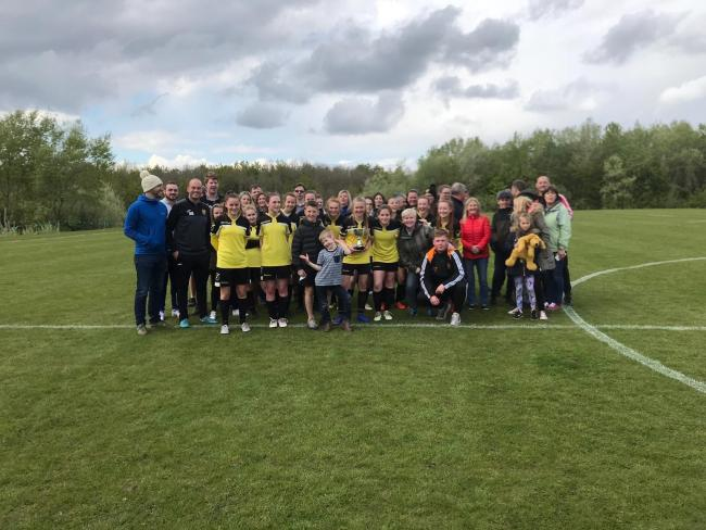 Darlington Spraire Lasses lifted the Russel Foster League Shield earlier this month