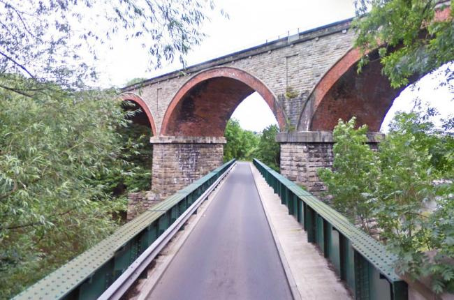 The bridge on New Road, which crosses the River Wear, before its closure. Picture: Google