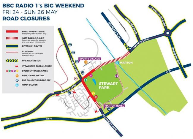 Road closures now in place for Radio One Big Weekend in Middlesbrough