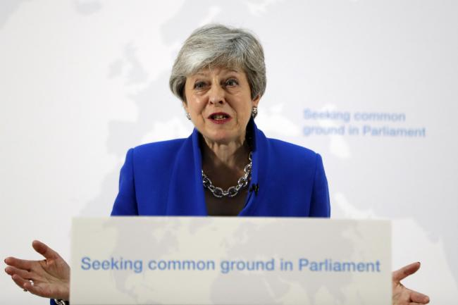 Prime Minister Theresa May making a speech in central London on her latest Brexit plans. Picture: PA