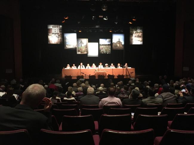 Stockton Council at Billingham Forum Theatre. LDR image. No attribution required. Free for use by all BBC wire partners.