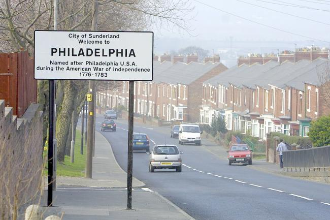In 2003, Philadelphia erected roadsigns explaining why on Wearside there is a piece of America. But why near Crook is there is a piece of Azerbaijan?