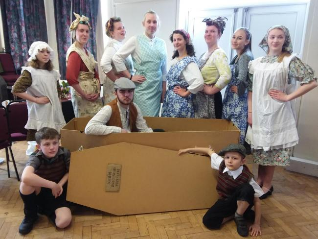 Some of the Richmondshire Youth Theatre cast for Last Dance of a Dalesman which was staged thanks to a grant from the Yorkshire Dales National Park Authority