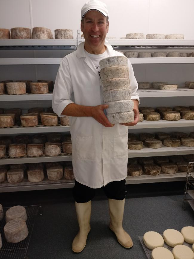 Simon Raine, proud to be making Weardale Cheese