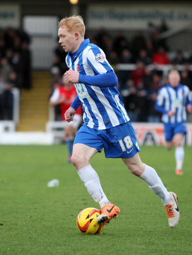 Hartlepool United v York City. Championship League 2.  Pools' Luke Williams....