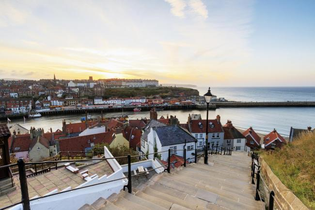 A view from the 199 steps whitby, North Yorkshire, UK.