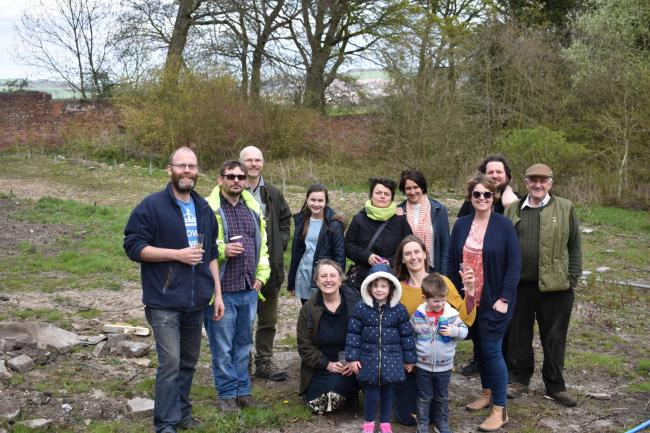 The Fruitful Durham team and its supporters in March 18, after they took over the walled garden at Ushaw College. They have been asked to leave the site by September and are looking for a new home and people to take the project forward