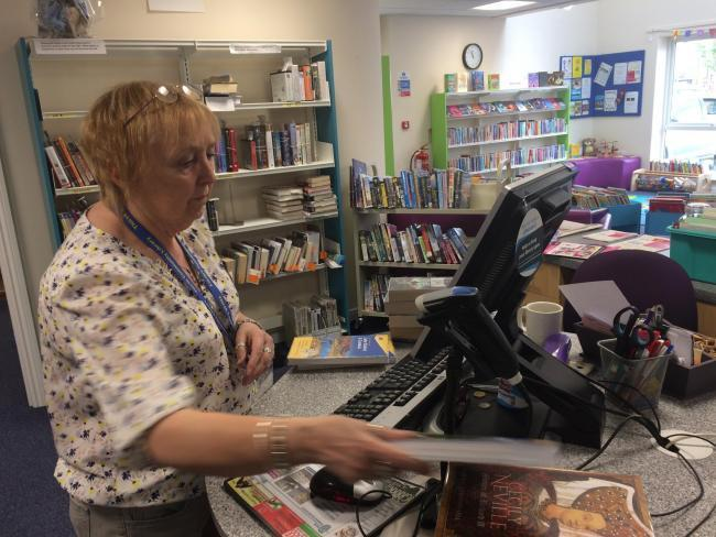 Sonia Butler, a volunteer at Thirsk Library