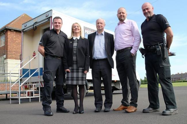 Pictured from left are Sgt James Brady, Cllr Carole Burdis, Cllr Peter Earley, Richie Mitchell, Community and Public Spaces Protection Manager, North Tyneside Council, and PC Mick Wilson